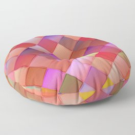 Pattern with pink squares.Trendy hipster print. Modern graphic design. Floor Pillow
