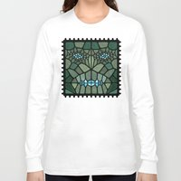 kaiju Long Sleeve T-shirts featuring Kaiju Voronoi by Enrique Valles
