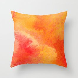 Orange watercolor paint vector background Throw Pillow