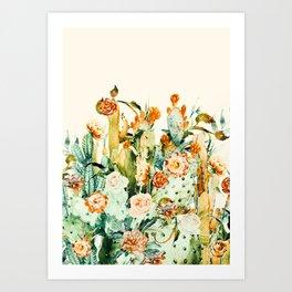 Succulent flowered cactus Art Print