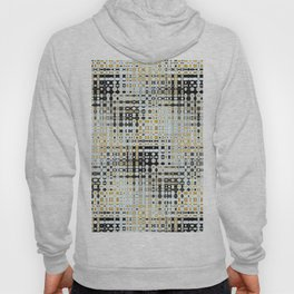 Colour Through Pattern Black, Yellow and White Hoody