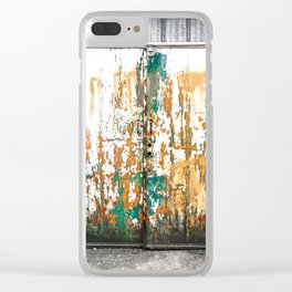 Chippy Double Barn Doors Clear iPhone Case