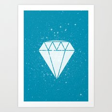 Space Diamond (blue) Art Print