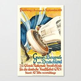 1935 Germany Grosser Bergpreis Racing Poster Canvas Print