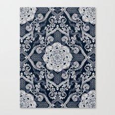Centered Lace - Dark Canvas Print