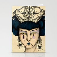 asia Stationery Cards featuring Asia by Pri Floriano