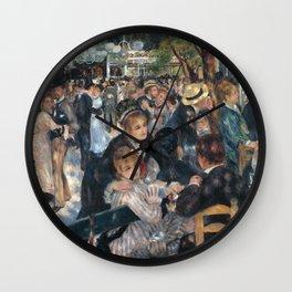 Bal du moulin de la Galette, Auguste Renoir, 1876 Wall Clock