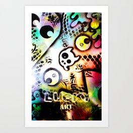 Lucky goes pop n11 Art Print