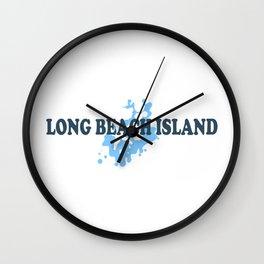 Long Beach Island - New Jersey. Wall Clock