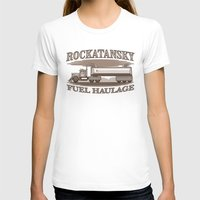 pocket fuel T-shirts featuring Rockatansky Fuel Haulage by Doodle Dojo