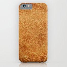 Vintage leather texture. Natural brown animal skin illustration. iPhone Case
