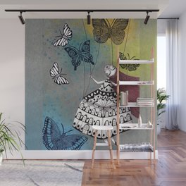 House of Butterflies Wall Mural