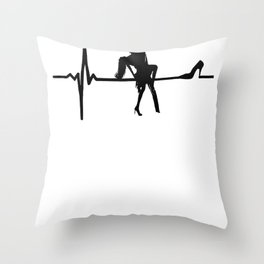 Dance Heart Beat with Stiletto She Throw Pillow