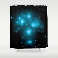constellation Shower Curtains featuring Constellation by 2sweet4words Designs