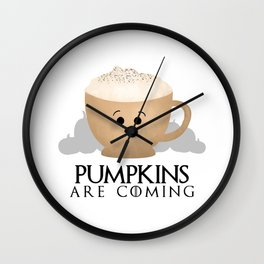 Pumpkins Are Coming Wall Clock