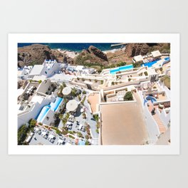 Hawks Eye on Greece Art Print