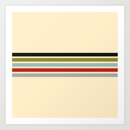 Racing Stripes II Art Print