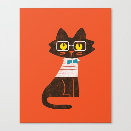 Fitz - Preppy cat Canvas Print