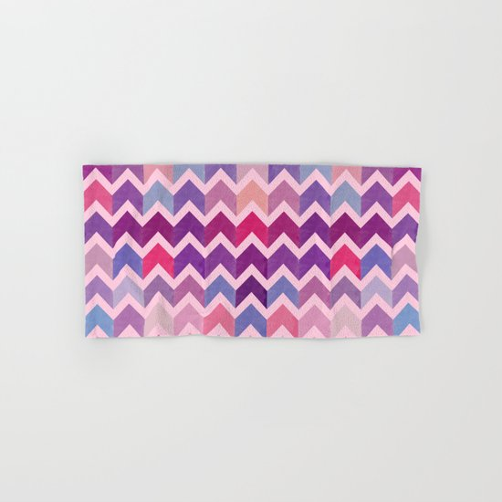 Watercolor Chevron Pattern II Hand & Bath Towel