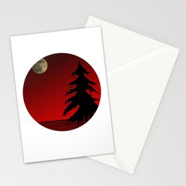 Moon design (Leila) Stationery Cards