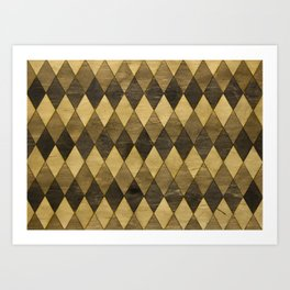 Wooden Diamonds Art Print