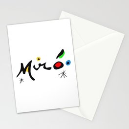 Joan Miro Colorful Signature Artwork for Prints Posters Tshirts Bags Women Men and Kids Stationery Cards