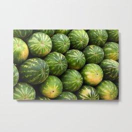 Melon fruit pattern Metal Print