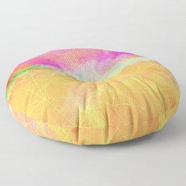 Modern Pastel Rainbow Cascade  Floor Pillow