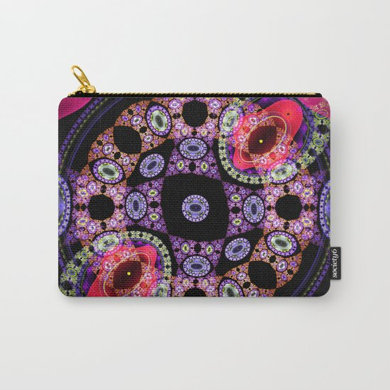 Dance in pink and purple, abstract pattern design Carry-All Pouch