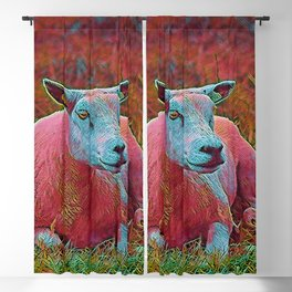 Popular Animals - Sheep Blackout Curtain