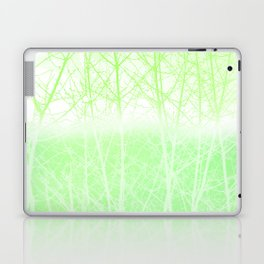 Frosted Winter Branches in Lime Green Laptop & iPad Skin