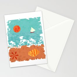 Sunset at the beach Stationery Cards