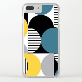 Retro style pattern 4 Clear iPhone Case