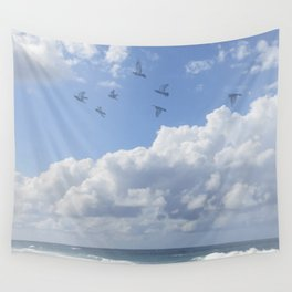 Window Curtains - Flying Away Wall Tapestry