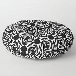 Symmetric patterns 135 Black and white Floor Pillow