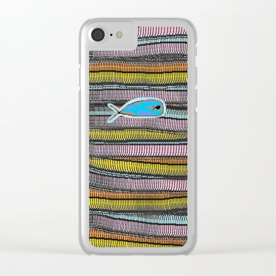 Not Whaling / Imperfect Lines Clear iPhone Case