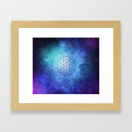Deep Space Sacred Geomery Framed Art Print
