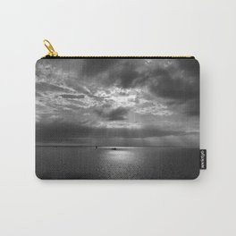 Cloudscape in black and white Carry-All Pouch