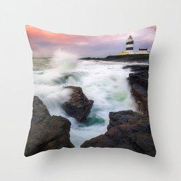 Hook Head Lighthouse (RR 205) Throw Pillow
