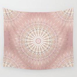 Rose Geometric Mandala Wall Tapestry