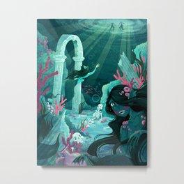 Mermaids of the Black Lagoon Metal Print