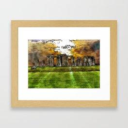 Henge at Sunsleep - Stonehenge Framed Art Print