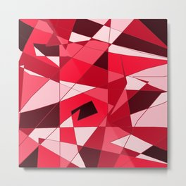 Shapes of Red Metal Print