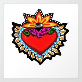 Heart Milagro Art Print