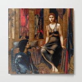 "Edward Burne-Jones ""King Cophetua and the Beggar Maid"" Metal Print"