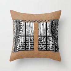 Zentangle Window Throw Pillow
