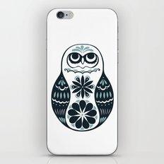 Flower Owl Matryoshka - Steel iPhone & iPod Skin