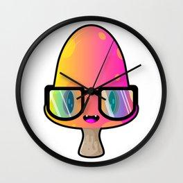 Nerdy Mushroom Wall Clock