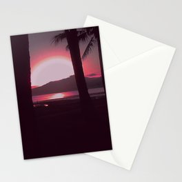 Cairns Sunrise in Red Stationery Cards