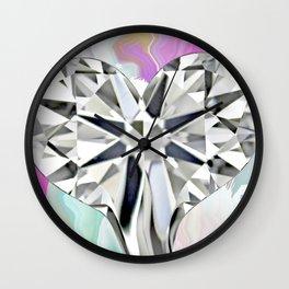 Crying Diamond Heart Wall Clock